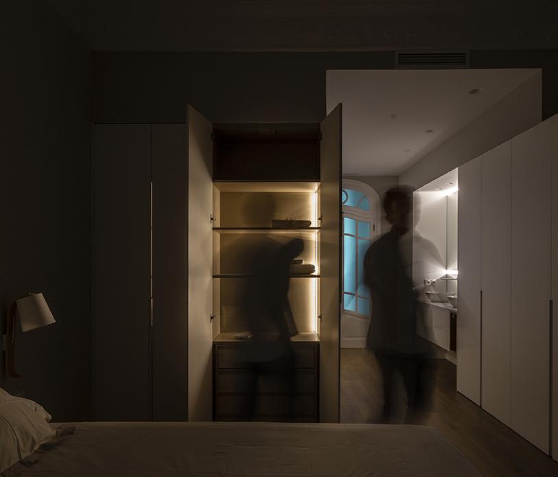 Iluminación en suite. Cerveró Obras